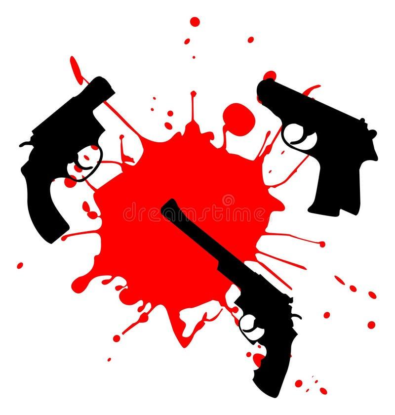 Wapen en bloed royalty-vrije illustratie