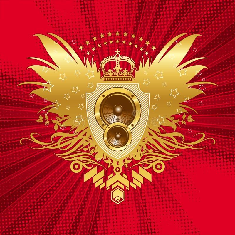 Wapenkunde met luidsprekers royalty-vrije illustratie