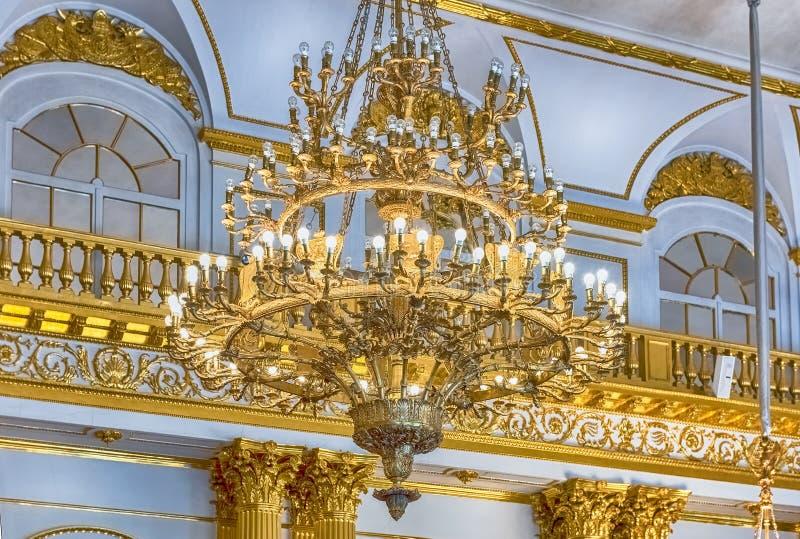 Wapenkundige Zaal, de Winterpaleis, Kluismuseum, St. Petersburg, royalty-vrije stock afbeeldingen