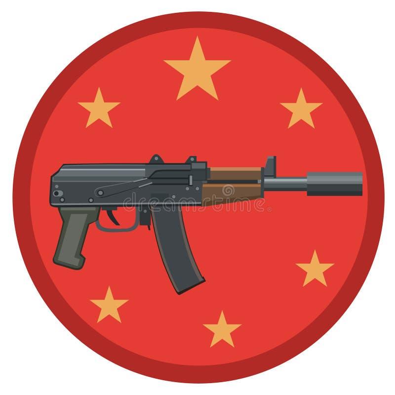Wapenmachinegeweer met een knalpot royalty-vrije stock afbeelding