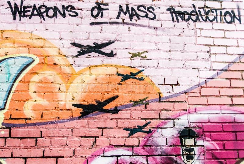 Wapens van de Muur van de Massaproduktiegraffiti royalty-vrije stock fotografie