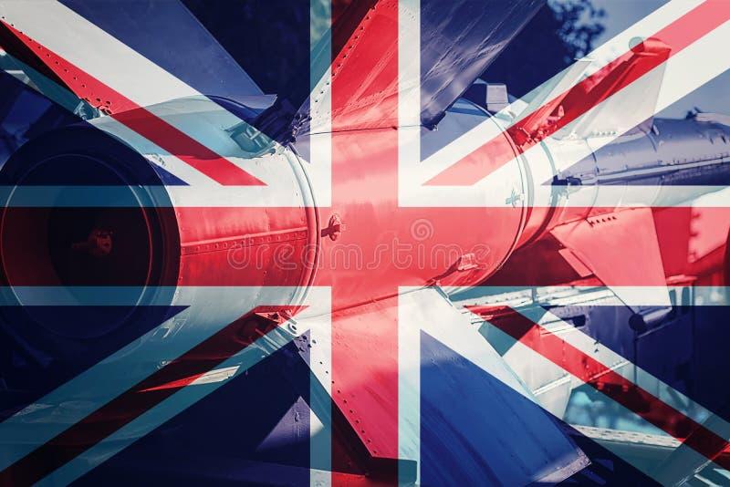 Wapens van massavernietiging De raket van het Verenigd Koninkrijk ICBM Oorlogsbedelaars stock afbeeldingen