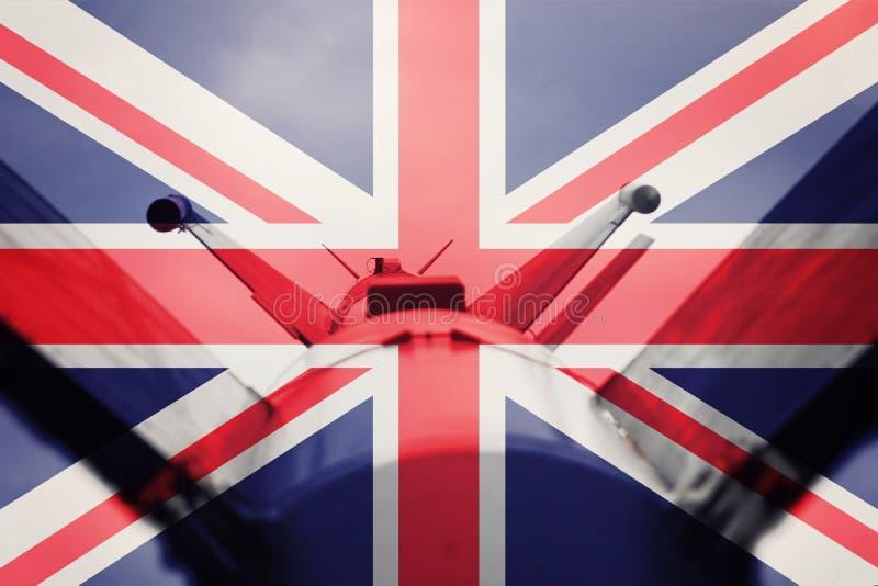 Wapens van massavernietiging De raket van het Verenigd Koninkrijk ICBM Oorlogsbedelaars stock foto