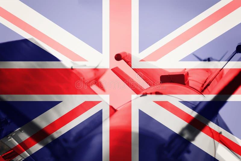 Wapens van massavernietiging De raket van het Verenigd Koninkrijk ICBM Oorlogsbedelaars stock fotografie