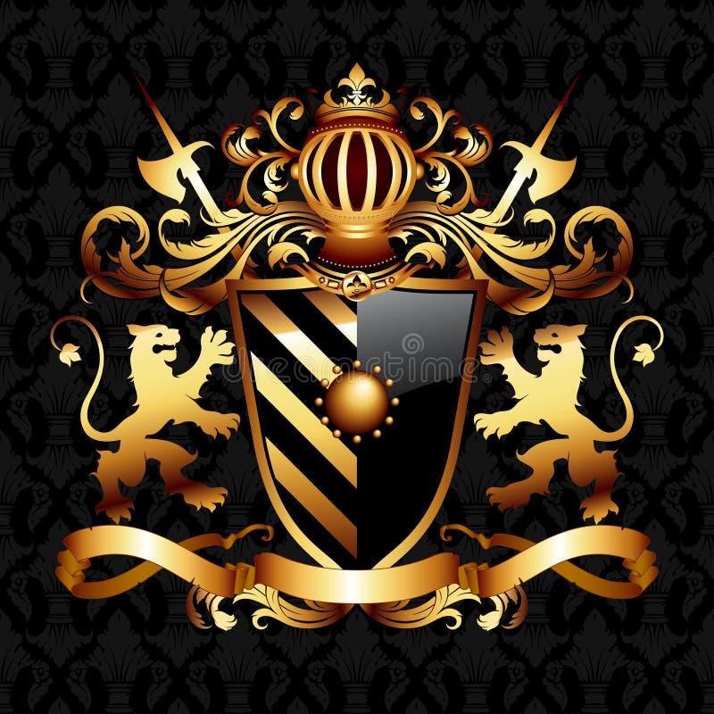 Wapenschild royalty-vrije illustratie