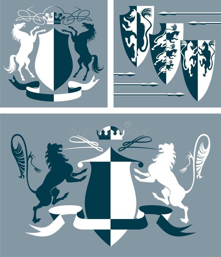 Wapenschild vector illustratie