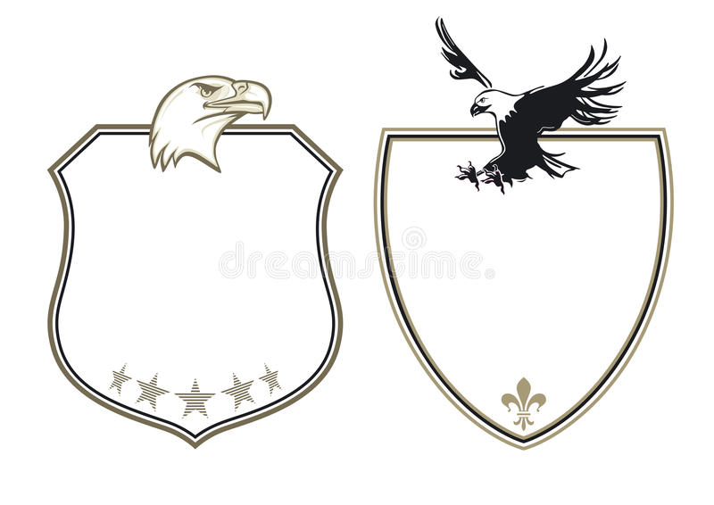 Wapenschild met adelaars stock illustratie