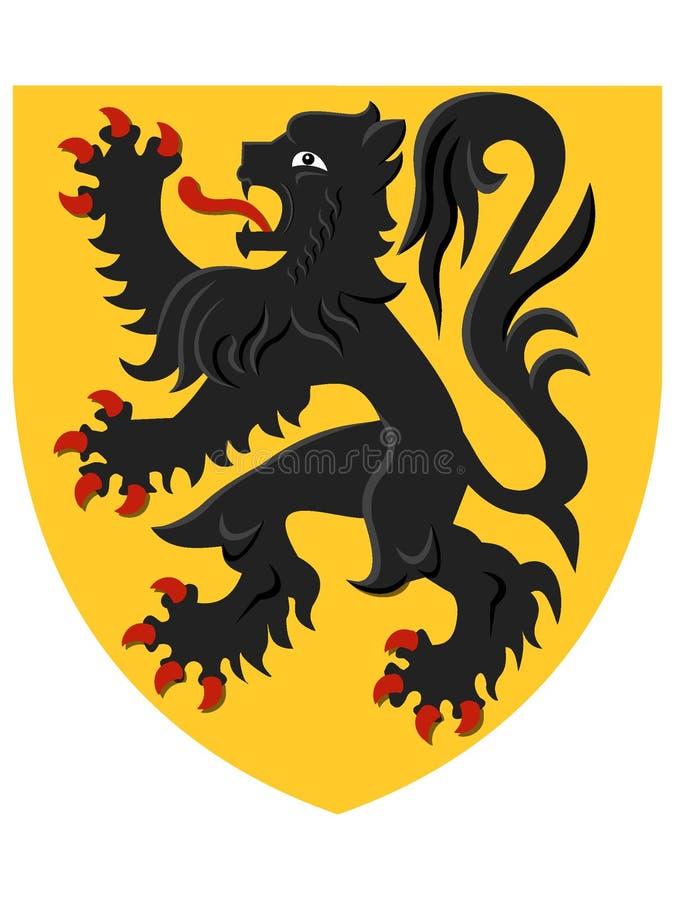 Wapenschild van Belgisch Gebied van Vlaanderen stock illustratie