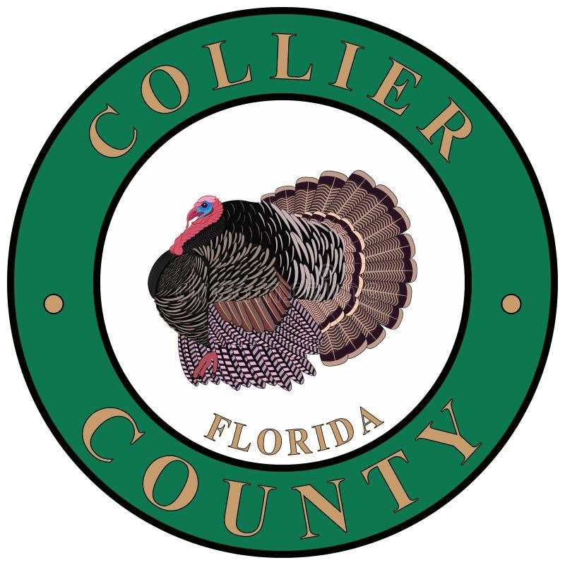 Wapenschild van Collier County in Florida van de V.S. royalty-vrije illustratie
