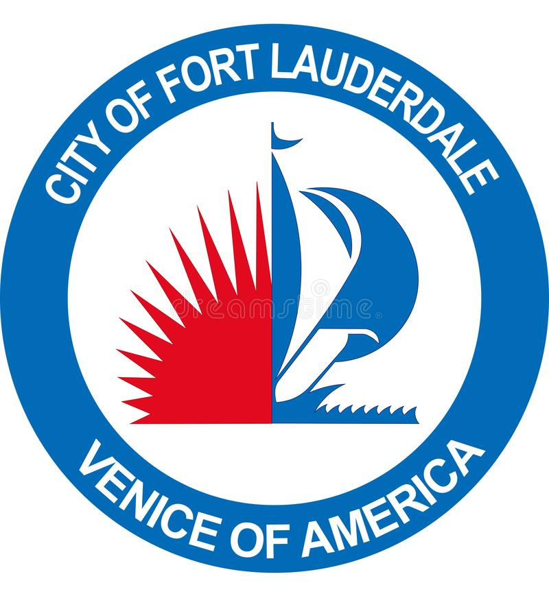 Wapenschild van Fort Lauderdale in Florida van Verenigde Staten stock illustratie