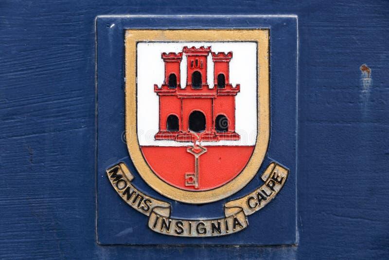 Wapenschild van Gibraltar stock afbeeldingen