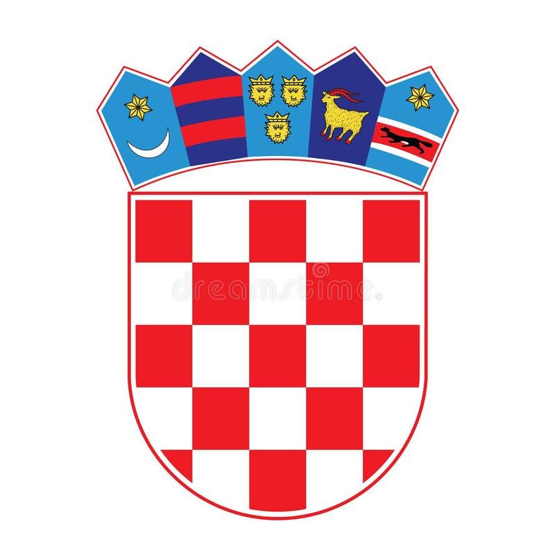 Wapenschild van Kroatië, vectorillustratie vector illustratie