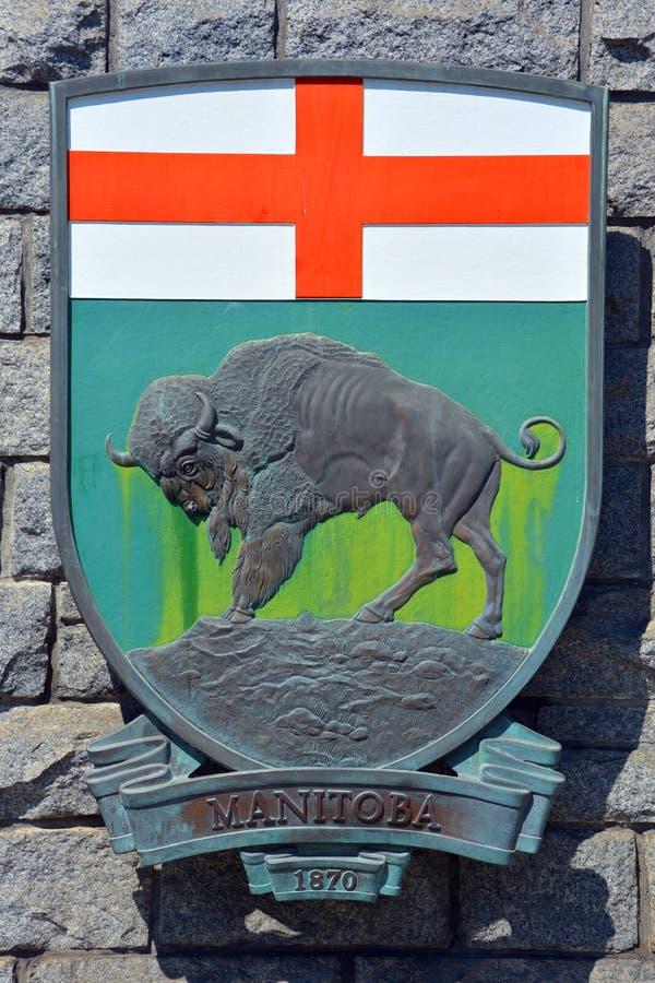 Wapenschild van Manitoba stock foto