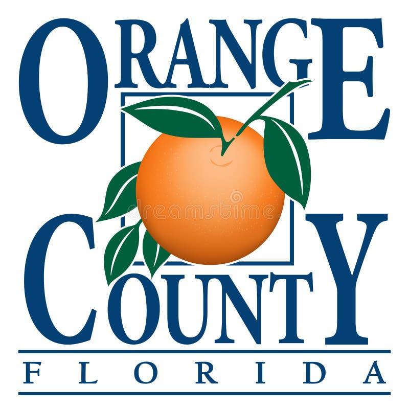 Wapenschild van Oranje Provincie in Florida van Verenigde Staten vector illustratie