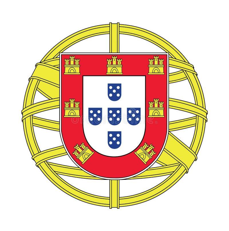 Wapenschild van Portugal, vectorillustratie vector illustratie