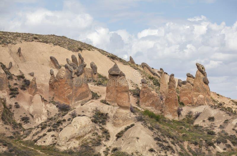 Wapień formacje w Cappadocia, Turcja fotografia royalty free