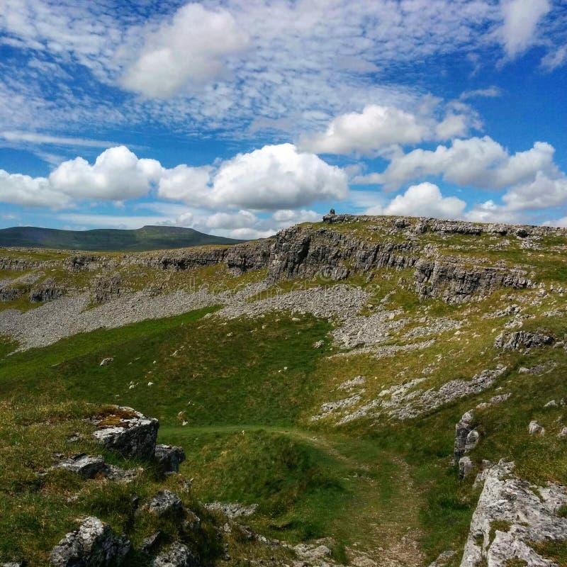 Wapień sceneria w Yorkshire dolinach zdjęcia royalty free