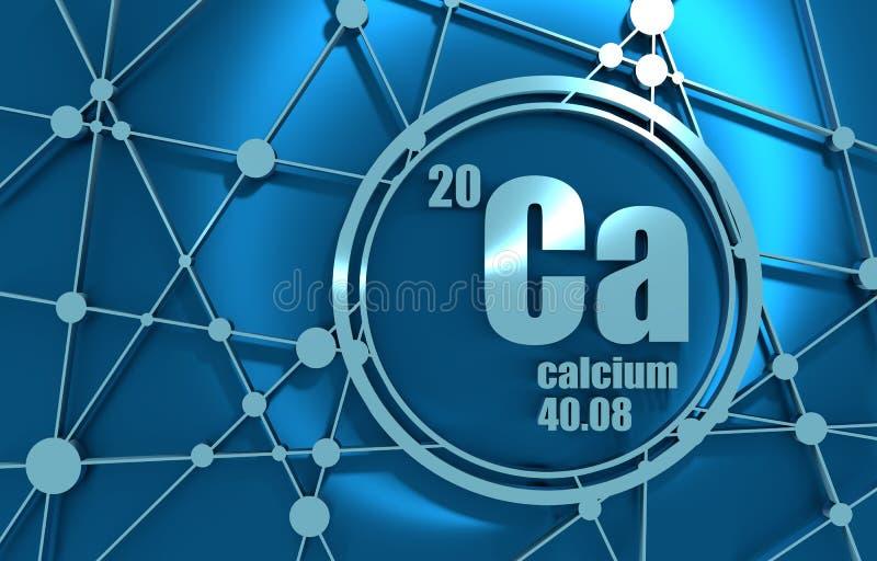 Wapnia chemiczny element ilustracji