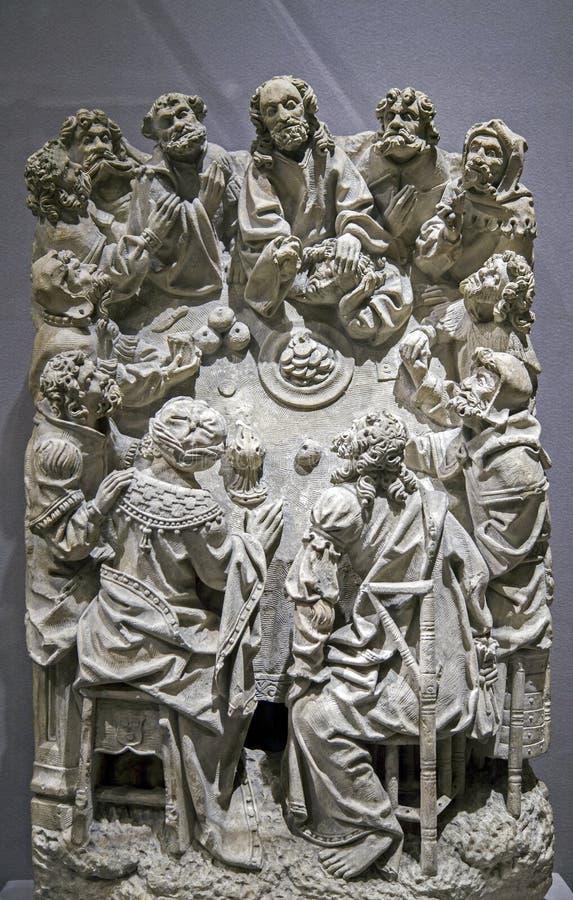 Wapnia obraz Ostatnia kolacja wśrodku Wielkomiejskiego muzeum sztuki NYC obrazy stock