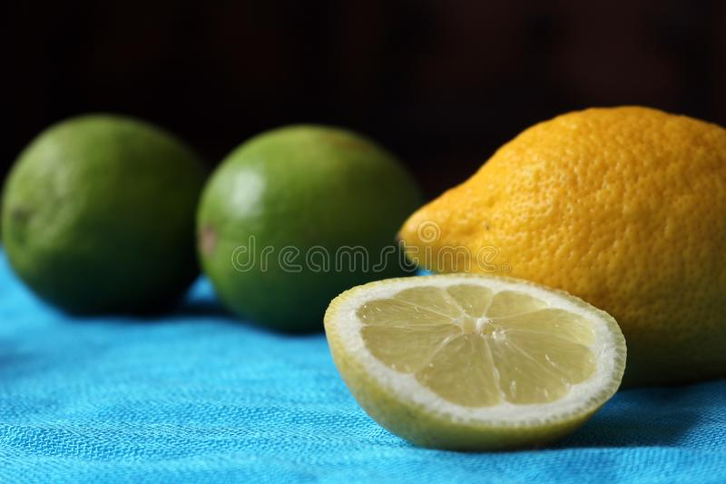 Wapno i cytryny obraz stock