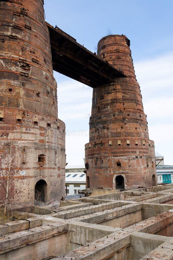 Wapno kilns w Kladno, republika czech, Krajowy kulturalny zabytek zdjęcie stock