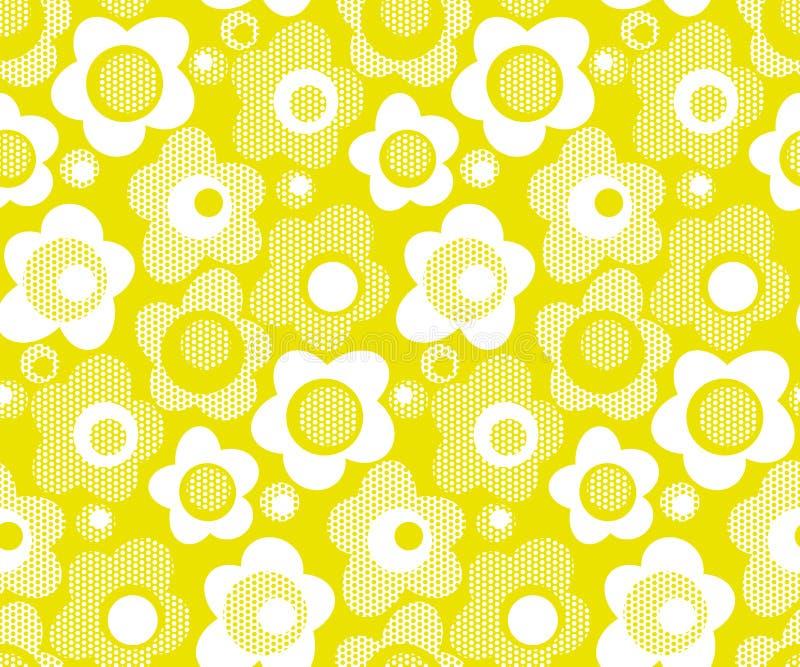 Wapno koloru stylizowany kwiecisty bezszwowy wzór ilustracji