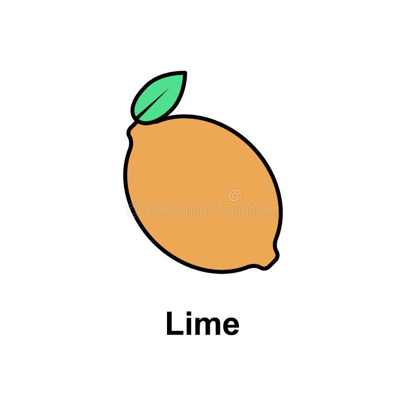 Wapno, owocowa ikona Element Cinco de Mayo koloru ikona Premii ilości graficznego projekta ikona Znaki i symbol inkasowa ikona dl ilustracja wektor