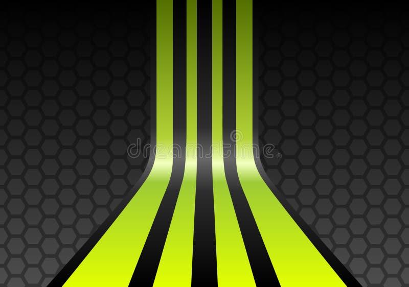 wapno zielone paski ilustracja wektor