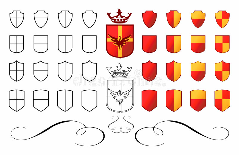 Wappen 01 lizenzfreie abbildung