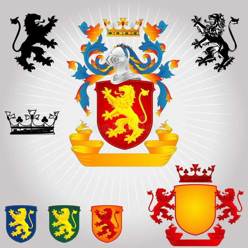 Wappen 01 - Löwe lizenzfreie abbildung
