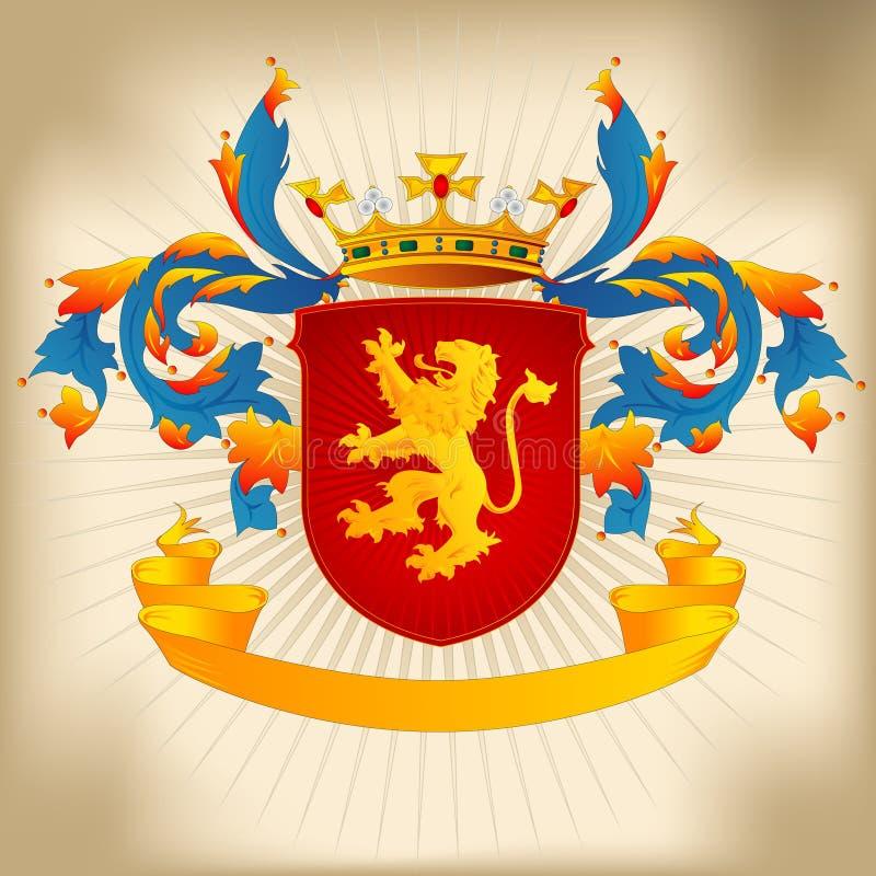 Wappen 22c - Löwe vektor abbildung