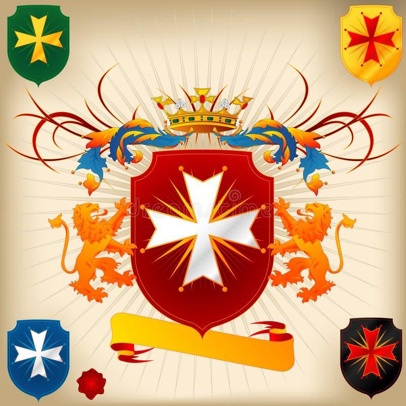 Wappen 24 - Kreuz lizenzfreie abbildung