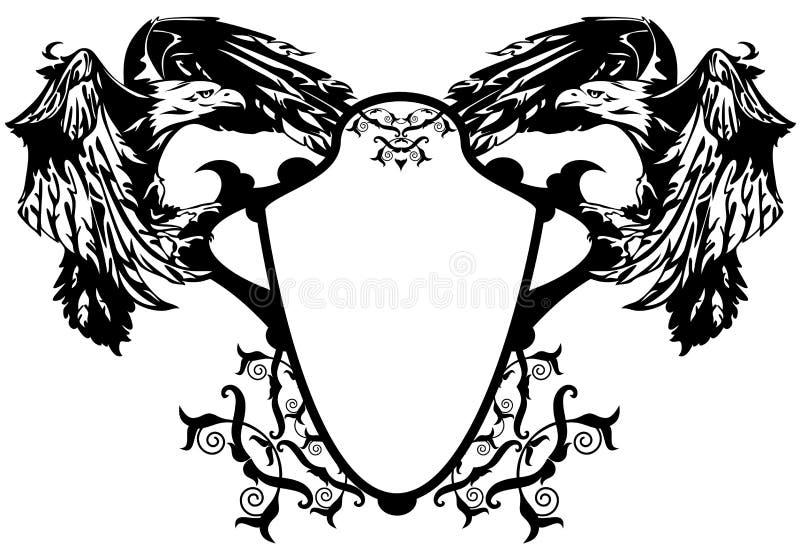 Wappen Adler lizenzfreie abbildung