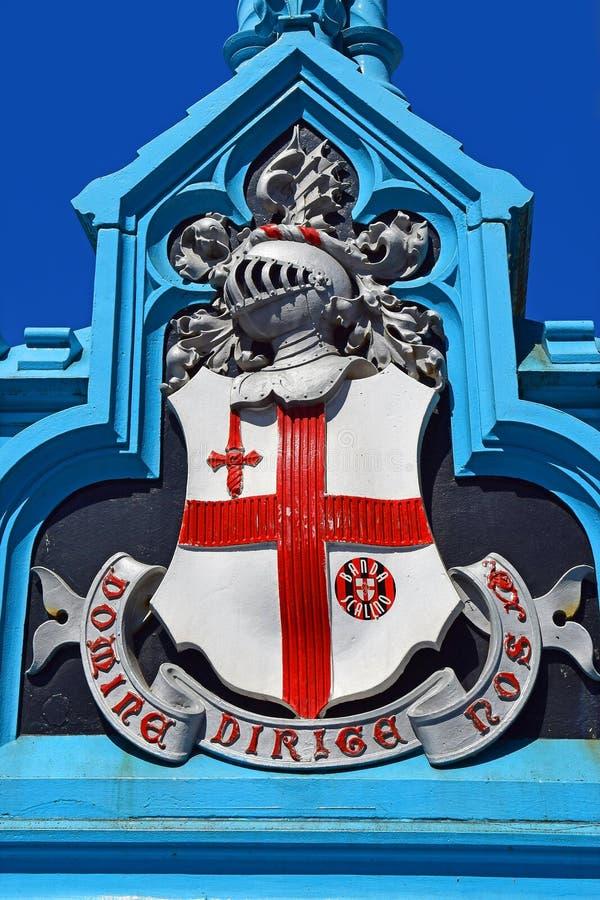 Wappen der Stadt von London stockbild