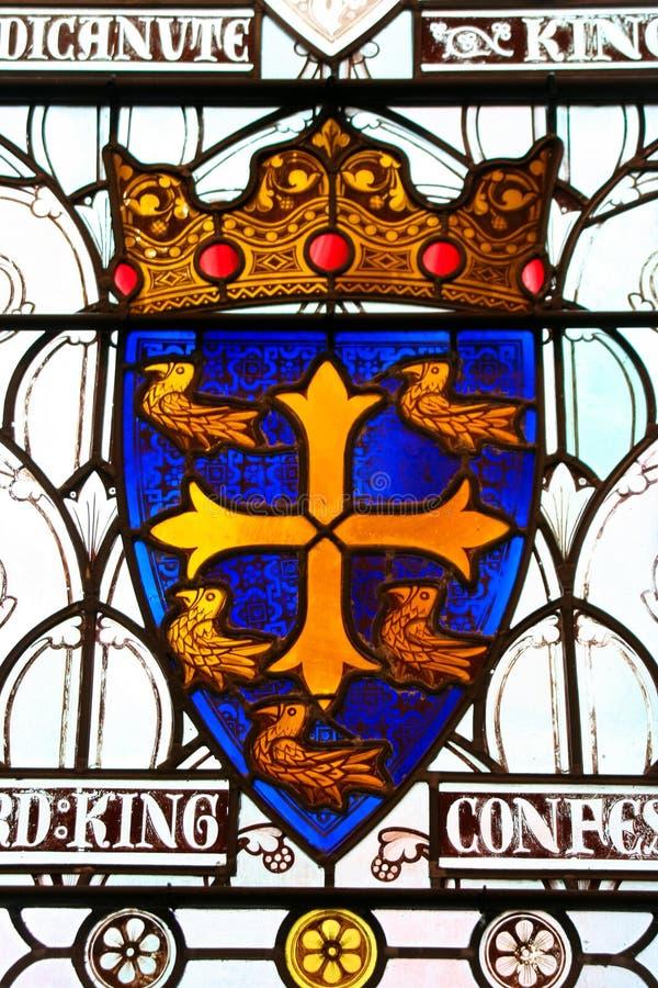 Wappen des mittelalterlichen Kreuzfahrers, Ritter, Kavalier r lizenzfreies stockbild