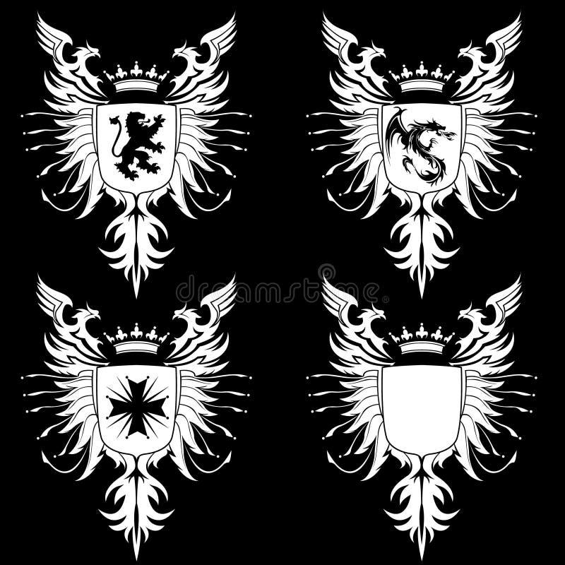 Wappen gotische 03 lizenzfreie abbildung