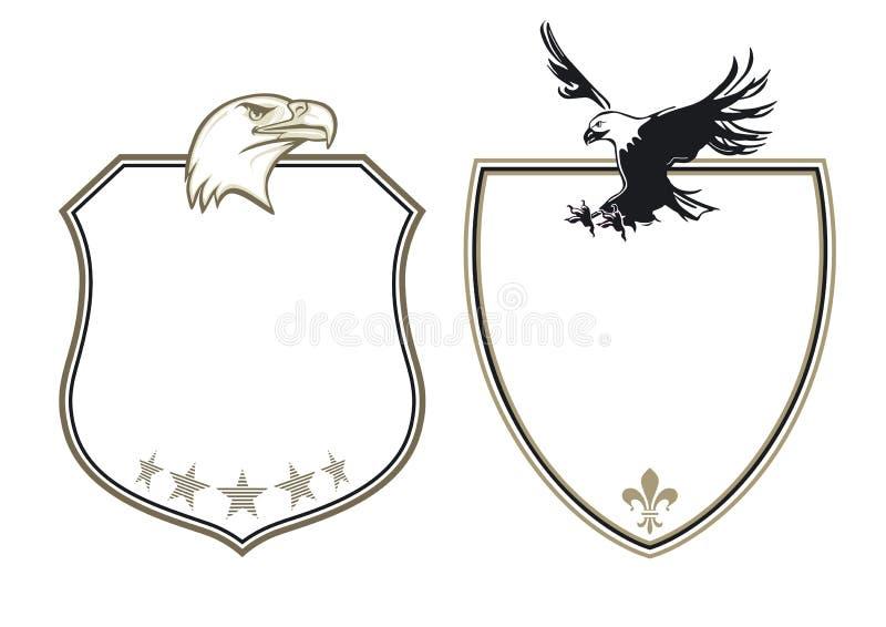 Wappen mit Adlern stock abbildung