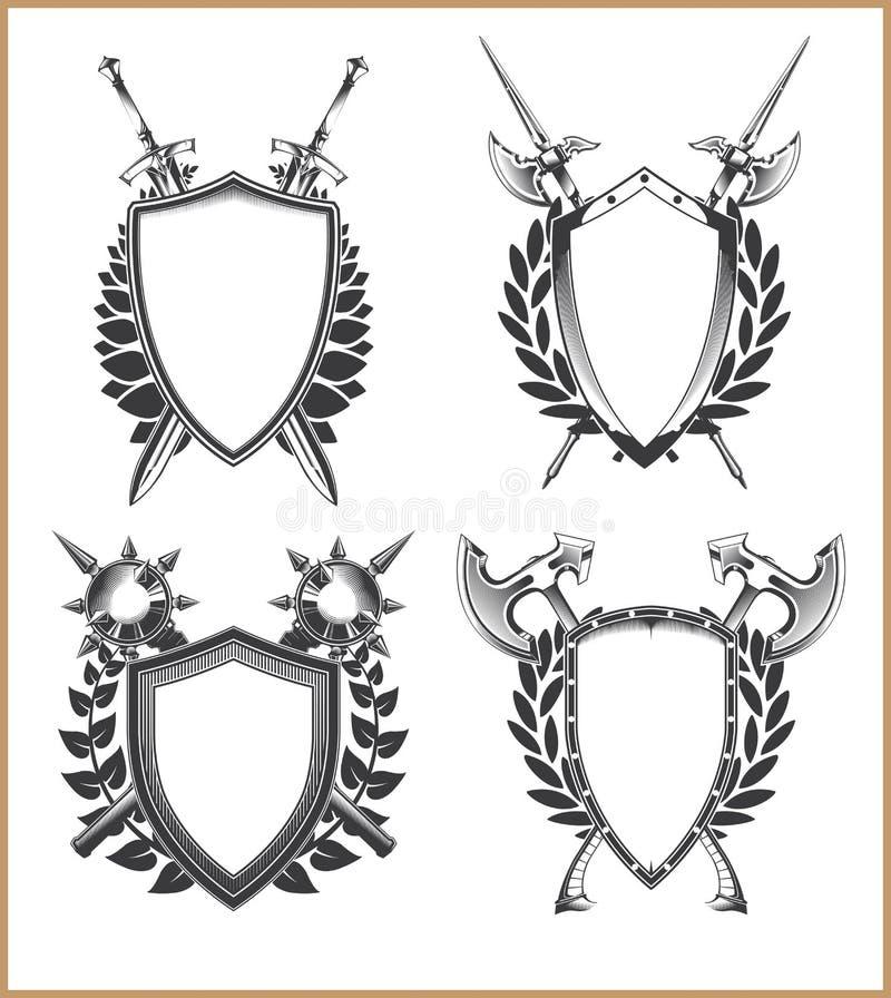 Wappen Schablone lizenzfreie abbildung