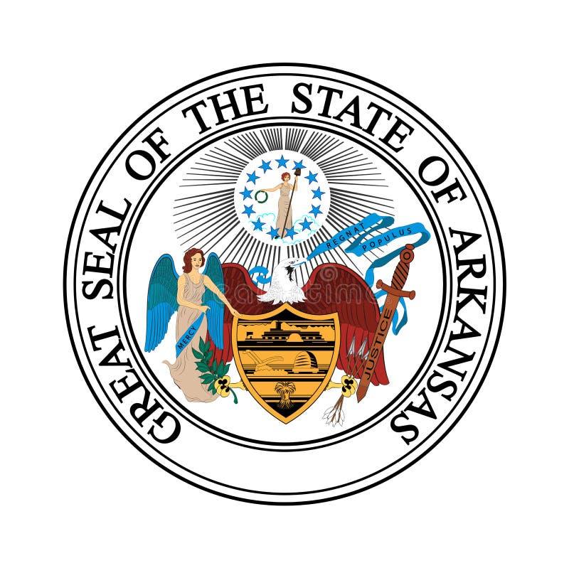 Wappen von Arkansas, USA lizenzfreie abbildung