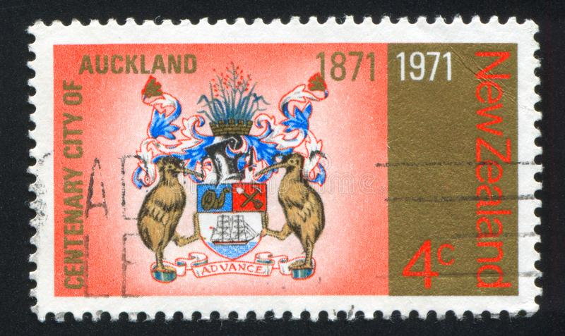 Wappen von Auckland stockfotos