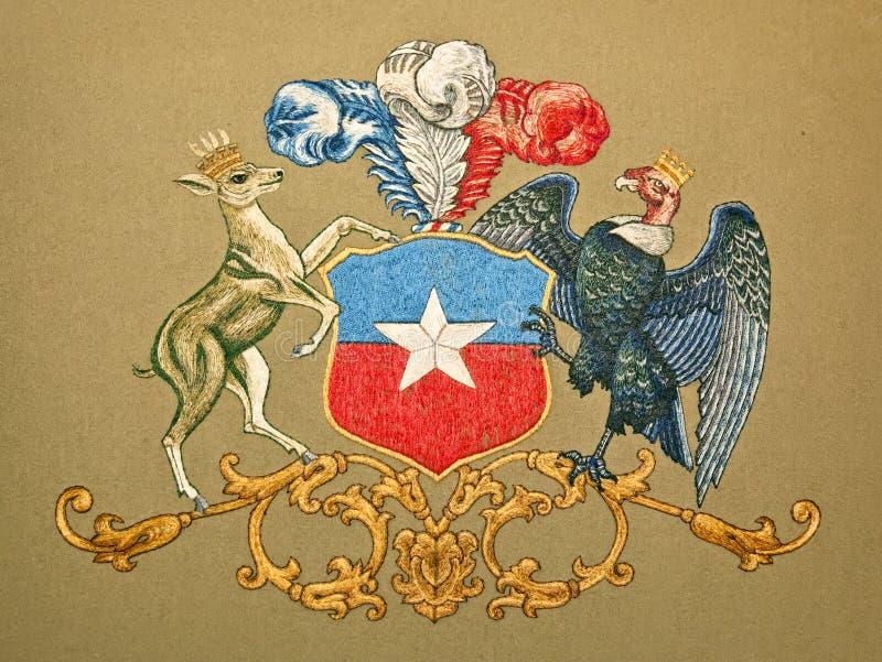Wappen von Chile stock abbildung