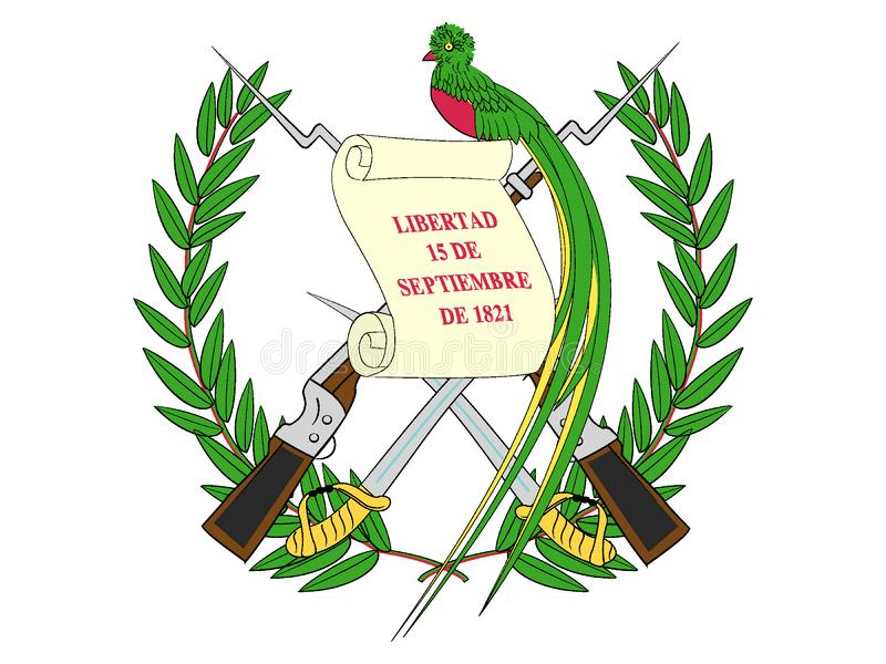 Wappen von Guatemala lizenzfreie abbildung