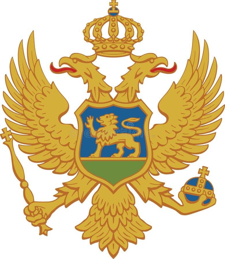 Wappen von Montenegro stockfotos