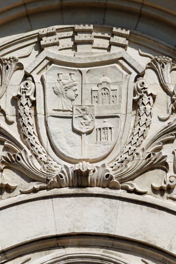 Wappen von Sofia, der Hauptstadt Bulgariens lizenzfreies stockfoto