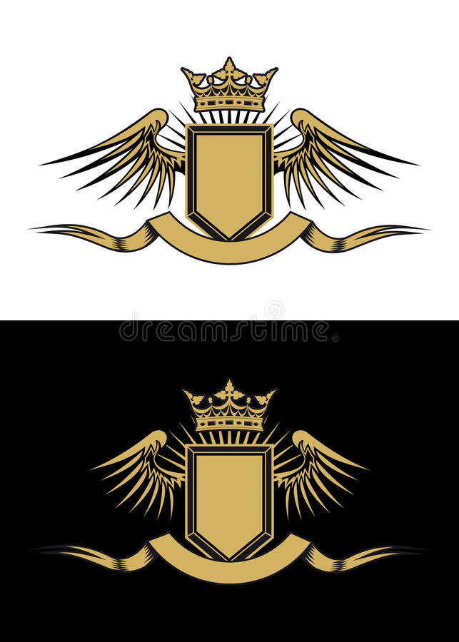 Wappenkundenauslegung stock abbildung