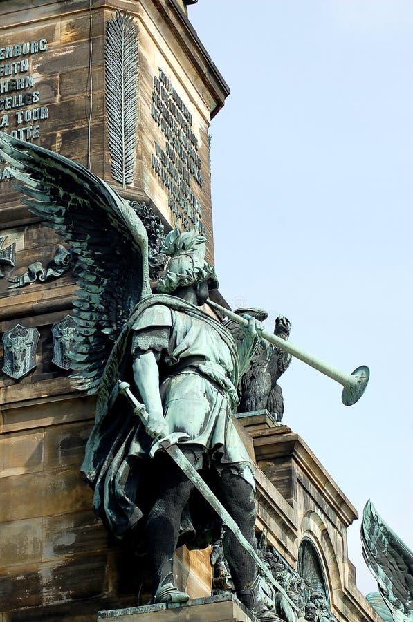 WarÂs ängel - Niederwald royaltyfri bild