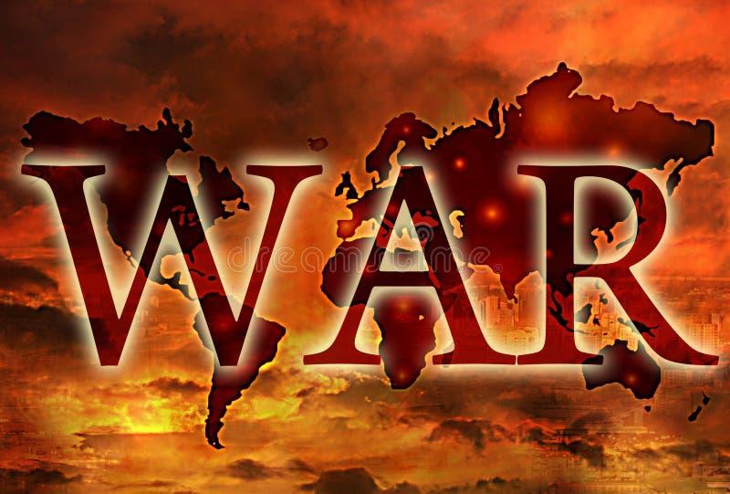 War. Apocalypse third world war concept stock illustration