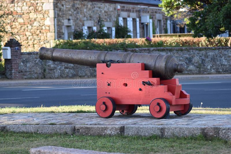 A war cannon at the Museum royalty free stock image