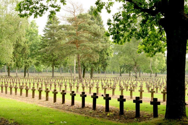 War cemetery royalty free stock photos