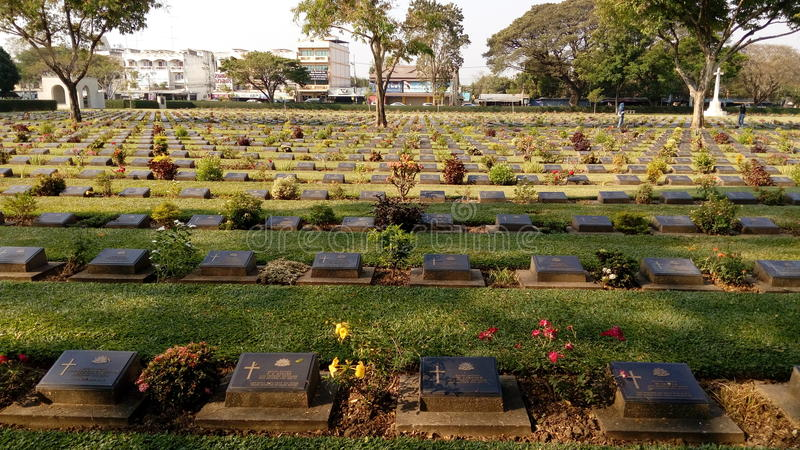 War cemetery royalty free stock image